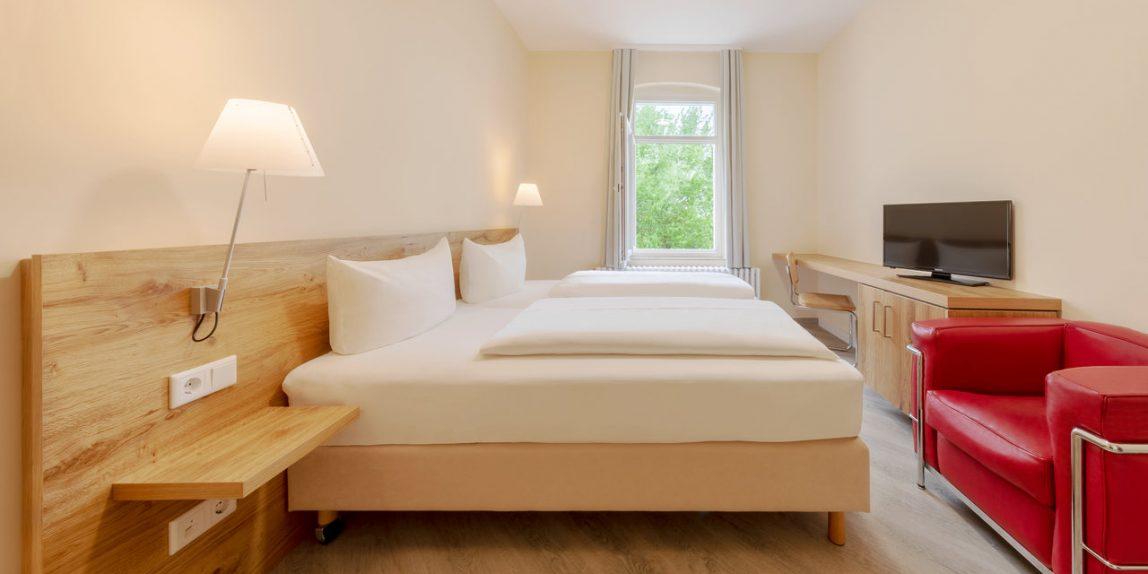 Hotelfotografie eines Doppezimmers im Thalasso Hotel Nordseehaus auf Norderney
